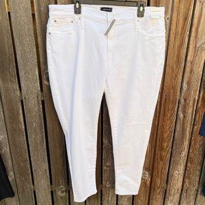 J Crew Toothpick Jeans 34 White Stretch Skinny New